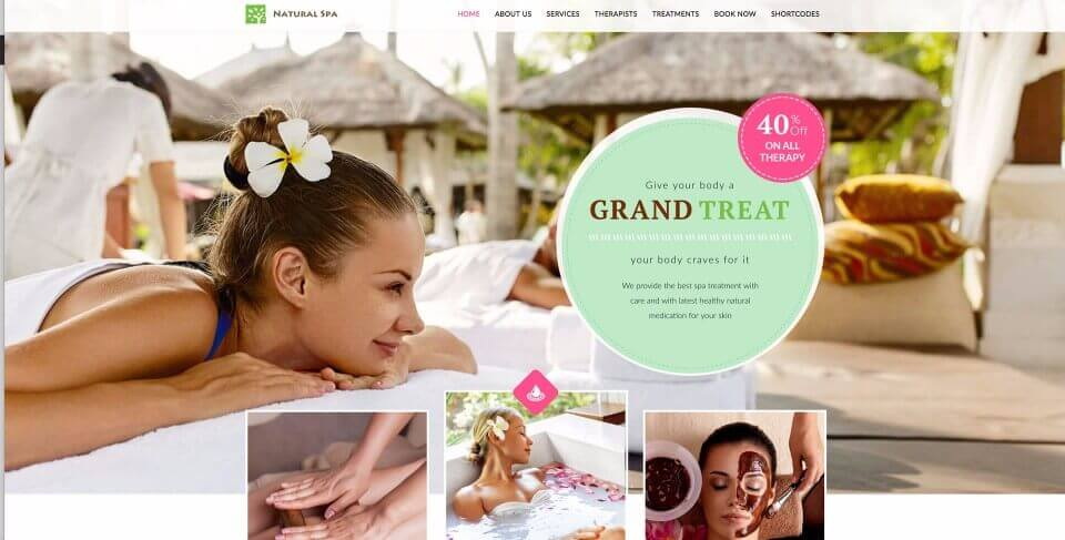 Spa & Beauty Salon Website #2