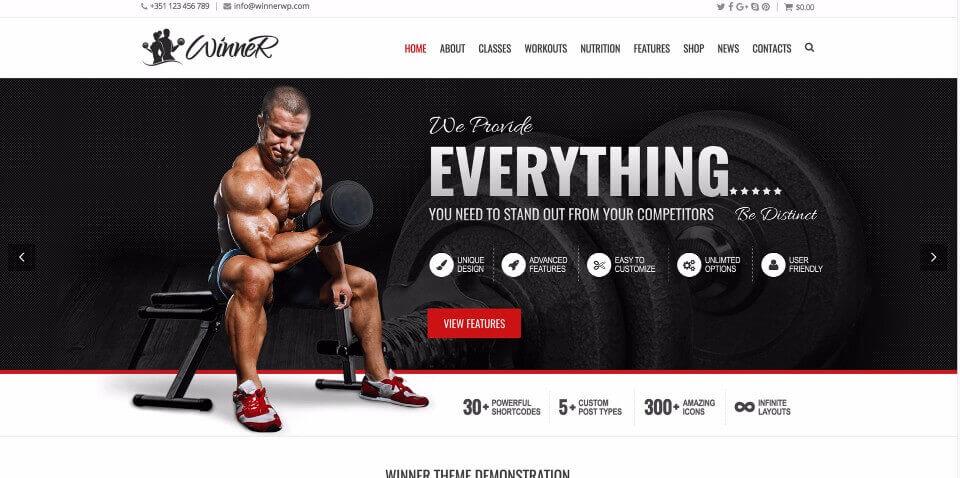 Fitness Club Website #2