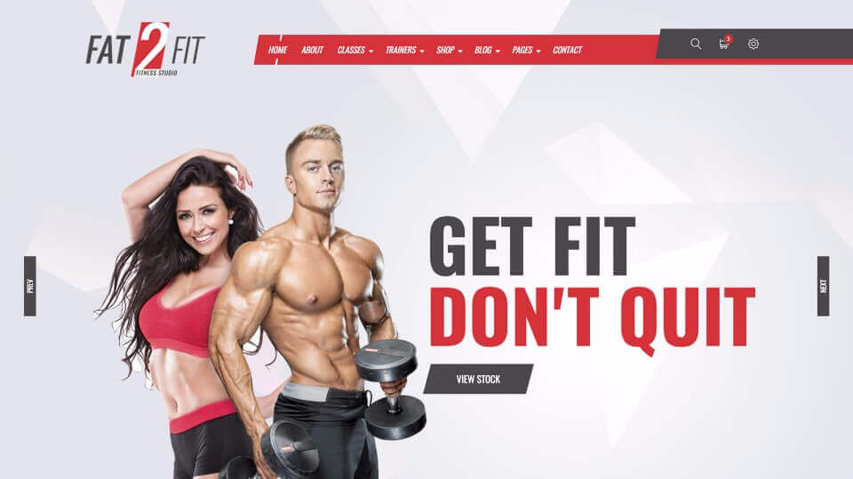 Web Design for Fitness Club