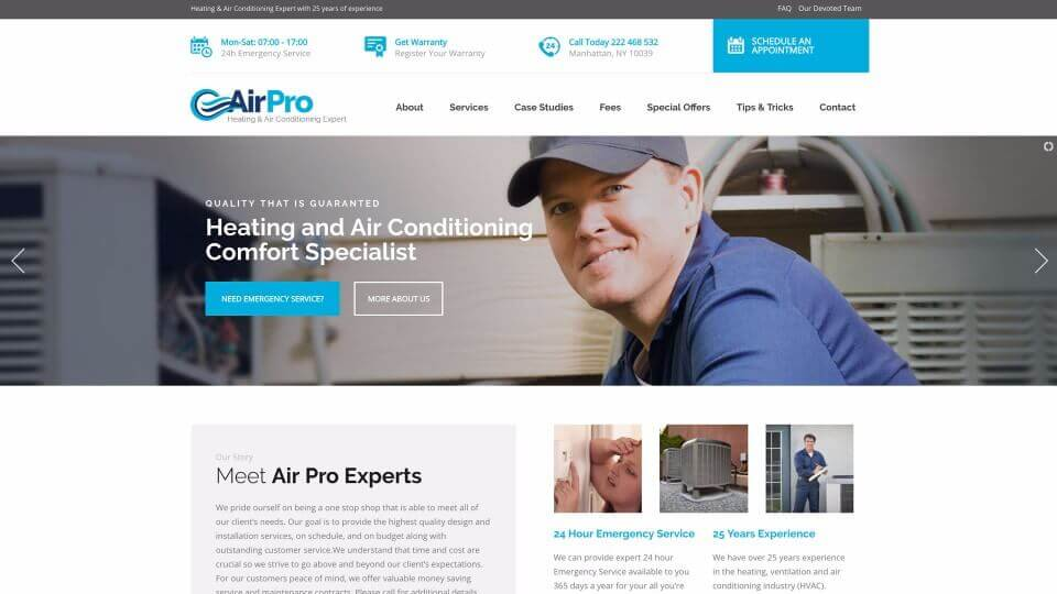 HVAC Service Website
