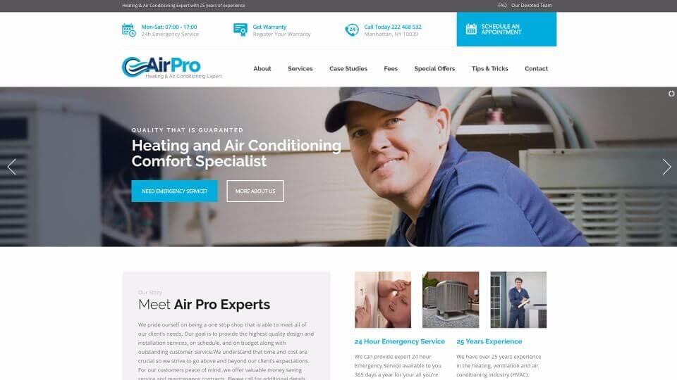 HVAC Service Website