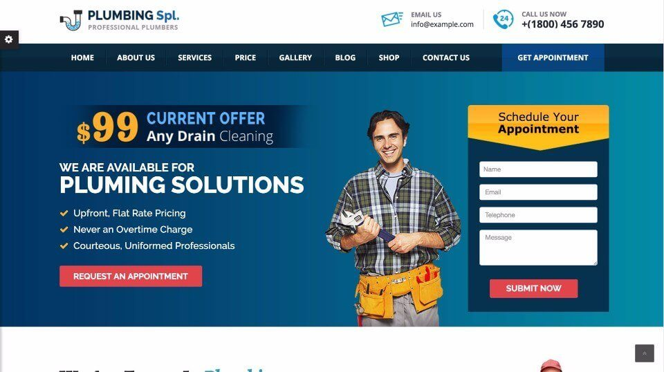Plumbing Company Website
