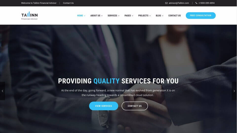 Website Design for Financial Services Company