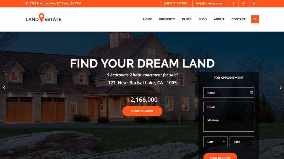 Real Estate Agency Website Design 2