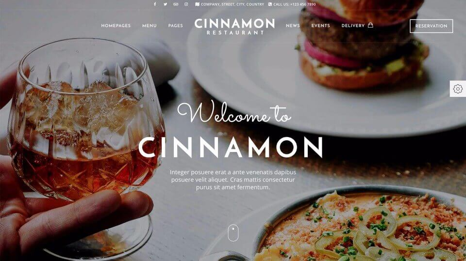 Restaurant Web Design 2