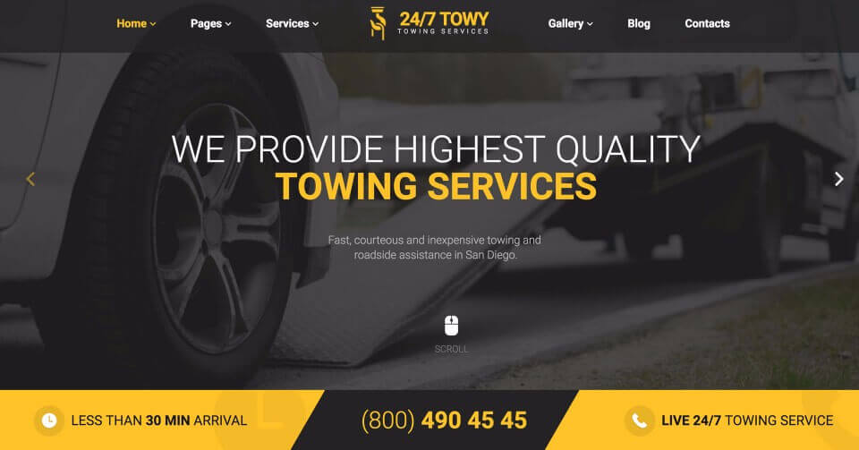 Towing Company Website Design